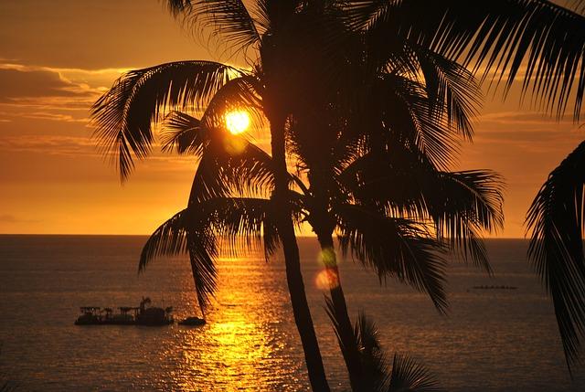 havaj a západ slunce